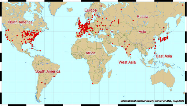 Centrales nucleares mundo